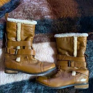 Aldo, Women's leather winter boots, size 38